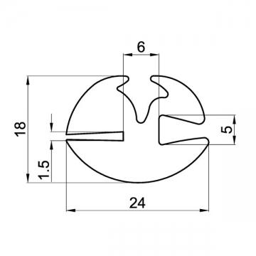 Uszczelka GST-140-1,5x5